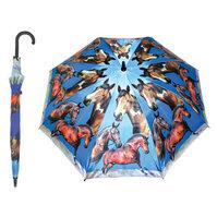 Paraply med hestemotiv